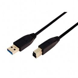 CABLE USBA 30 A USBB 30 LOGILINK 2M NEGRO