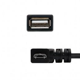 CABLE OTG ACODADO USBA20 A MICRO USBB NANOCABLE 015M