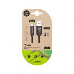 CABLE USBA20 A MICRO USBB20 TECH ONE TECH 1M NEGRO