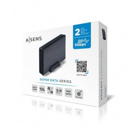 CAJA EXTERNA 35 USB31 SATA AISENS ALUMINIO NEGRO