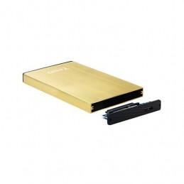 CAJA EXTERNA 25 USB 30 SATA TOOQ TQE 2527GD ORO