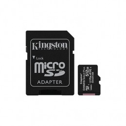 MEM MICRO SDXC 512GB KINGSTON CANVAS SELECTADAPT