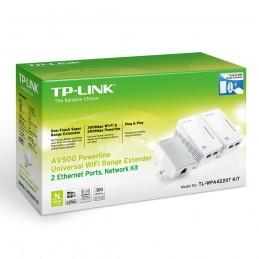 ADAPTADOR PLC TP LINK AV500 TL WPA4220T KIT 3UDS