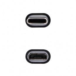 ADAPTADOR USB C 20 A MICRO USB B AISENS NEGRO