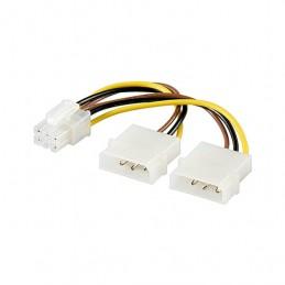 CABLE ALIMENTACION VGA AUXILIAR 2x525 A PCIE 6PIN