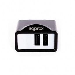CARGADOR USB APPROX APPUSBWALL21B NEGRO