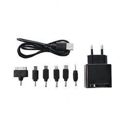 CARGADOR USB TABLET SMARTPHONE APPROX 6 TIPS NEGRO