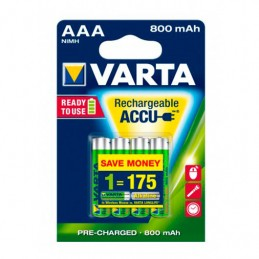PILA RECARGABLES VARTA AAA 800MAH PACK 4